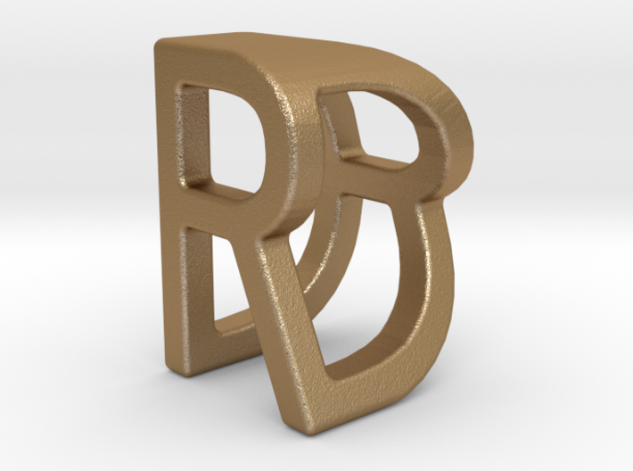 Two way letter pendant - DR RD 3d printed