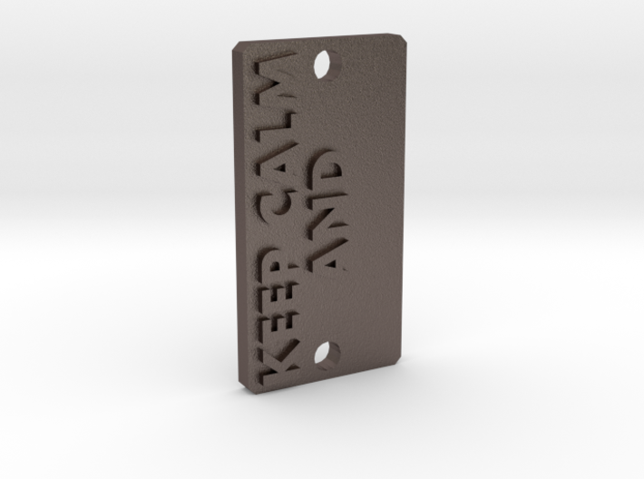 Keychain KEEP CALM AND... 3d printed