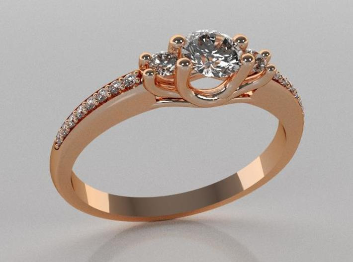 Past, Present, Future Engagement Ring 3d printed