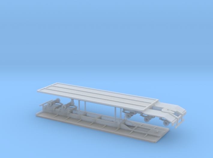1/87th Super B set of flatbed trailers 3d printed