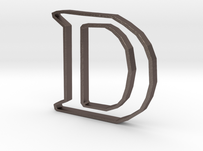 Typography Pendant D 3d printed
