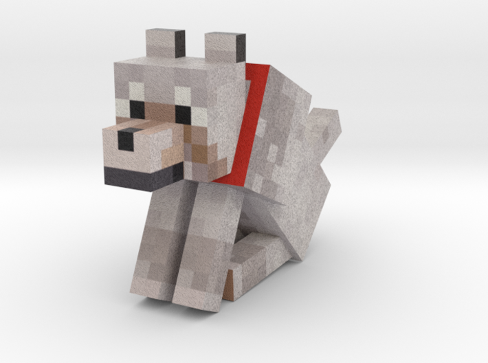 Tame Wolf (Sitting) 3d printed