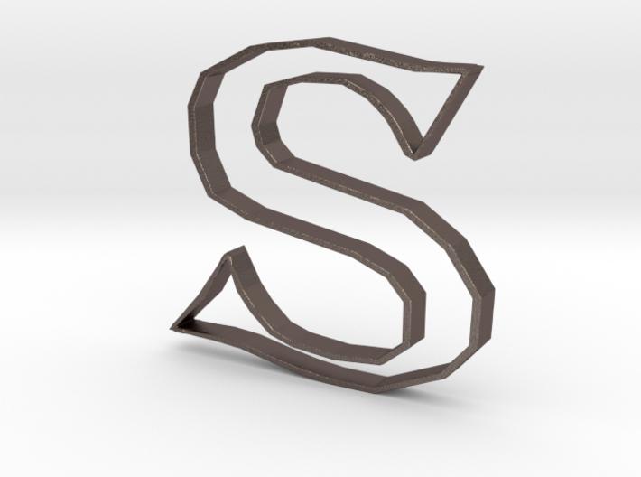 Typography Pendant S 3d printed