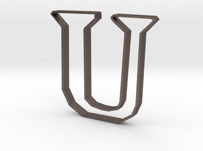 Typography Pendant U 3d printed