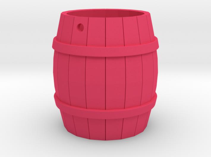 Wooden Barrel Keychain 3d printed