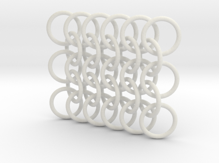 Large Chain Mail Keychain 3d printed