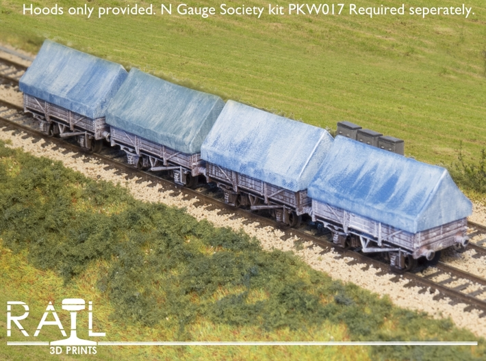 4 x China Clay Hoods for N Gauge Society Kit PKW01 3d printed