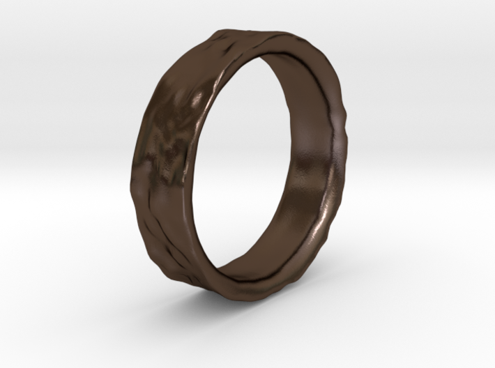 Crater Ring 3d printed