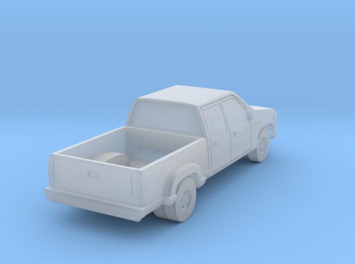 Dual Rear Wheel Crewcab Pickup - Zscale 3d printed