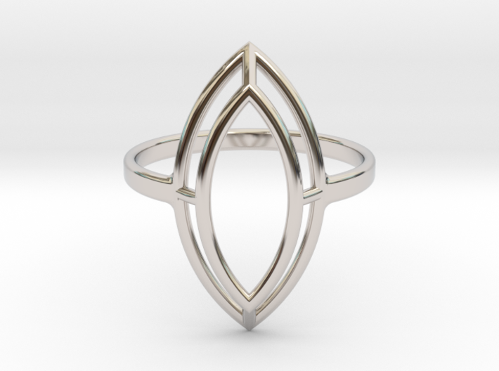Marquise Simple Wire Ring - US Size 08 3d printed