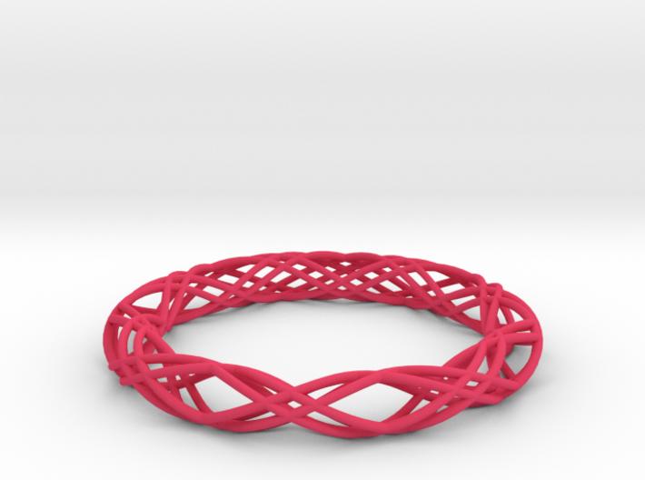 Twist Bangle  C04L 3d printed