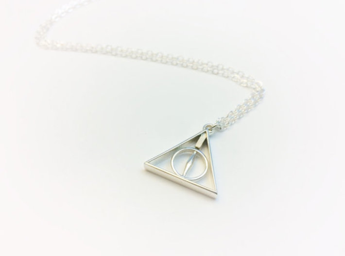 Tiny Rotating Deathly Hallows Pendant 3d printed