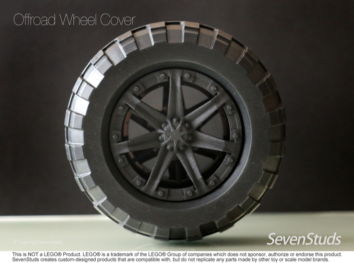 Offroad Wheel Cover 02_56mm 3d printed
