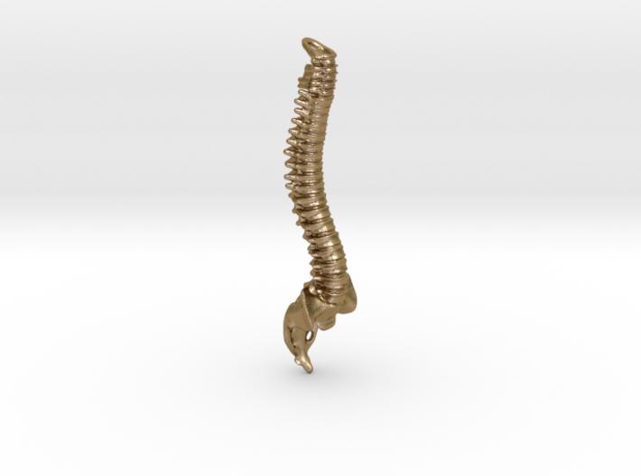 Spine Bottle Opener Keyring 3d printed