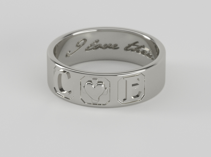 C + E ring Size 7 3d printed