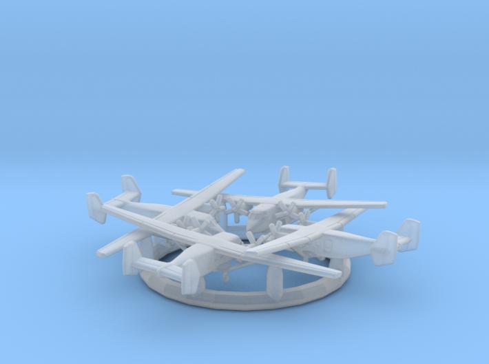 1/700 PZL M28 with Gear x4 (FUD) 3d printed
