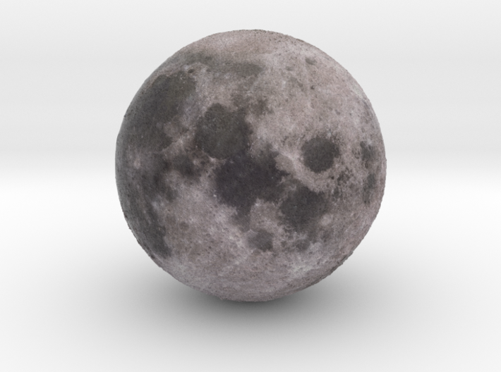 Moon relief 3d printed