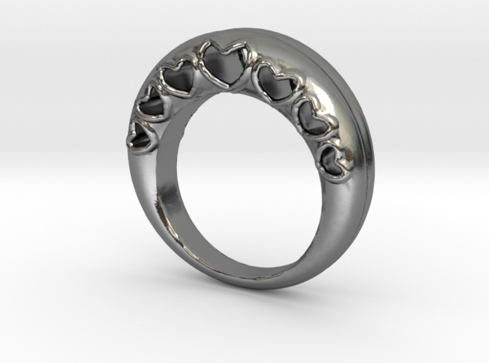 Bombay Hearts Ring_Size 6.5 3d printed