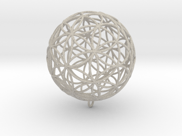 Pendant 100mm Flower Of Life 3d printed