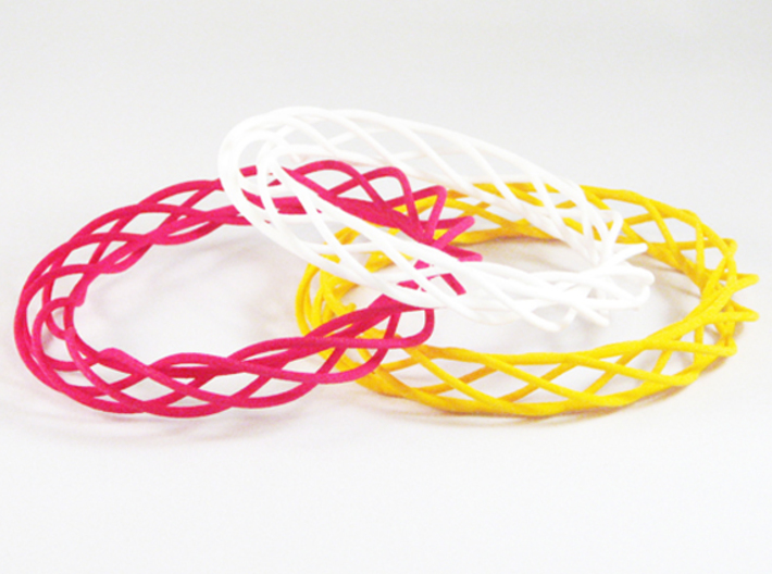 Twist Bangle A08L 3d printed