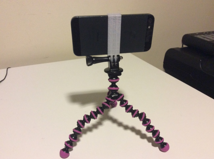 GoPro mount for iPhone 5 and 5s 3d printed GoPro tripod mount