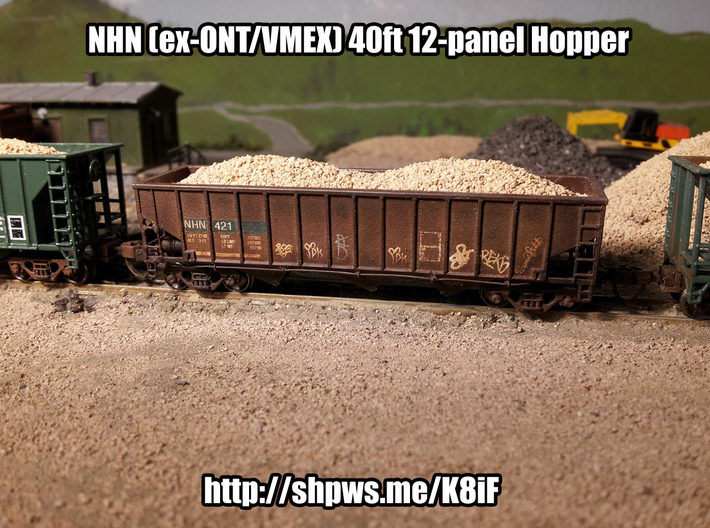 NHN (ex-ONT/VMEX) 40ft 12-panel Hopper (N-Scale) 3d printed