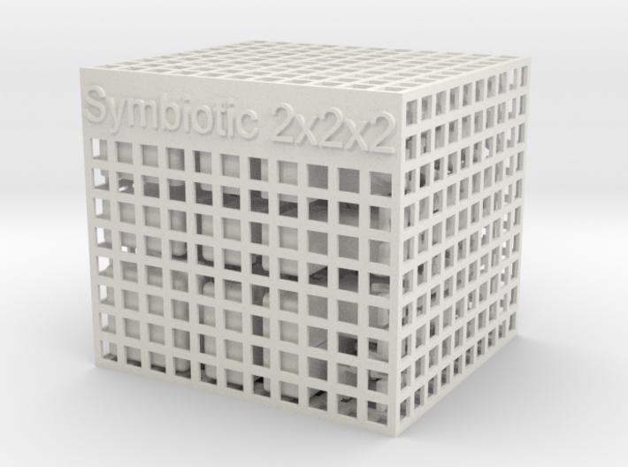 Symbiotic 2x2x2 3d printed