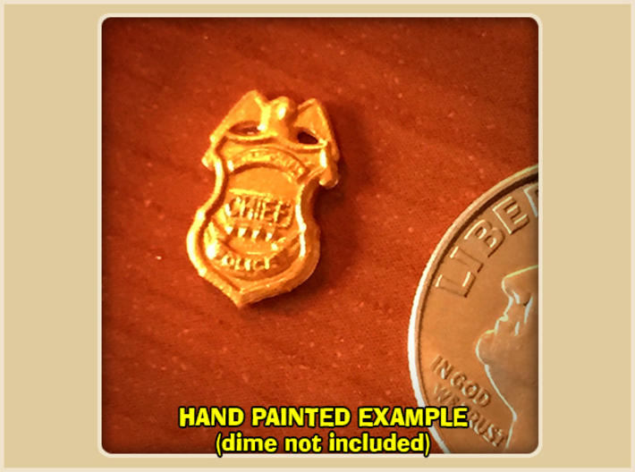 Police Chief Badge 3d printed