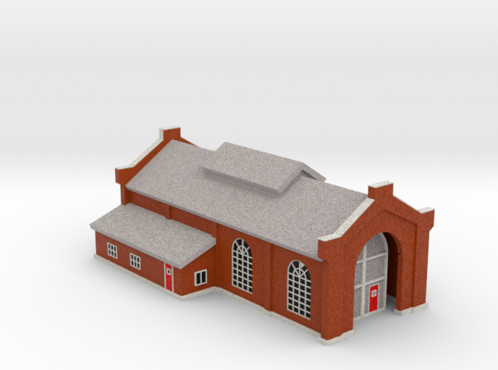 Engine House - Zscale 3d printed