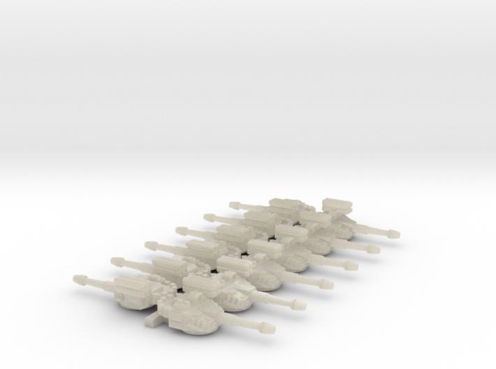 6mm Sci-Fi IFV Turrets (12pcs) 3d printed