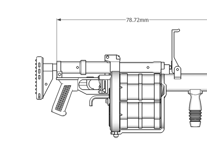 1:6 RG6 Russian Grenade Launcher SF version 3d printed