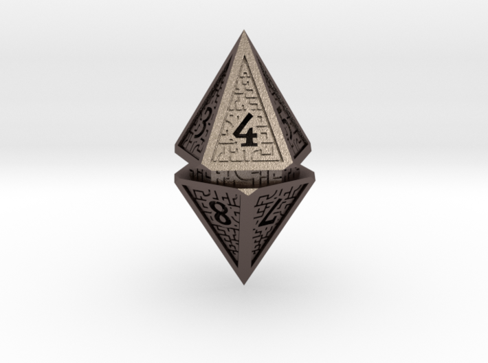 Hedron D10 Spindown Life Counter - HOLLOW DIE 3d printed