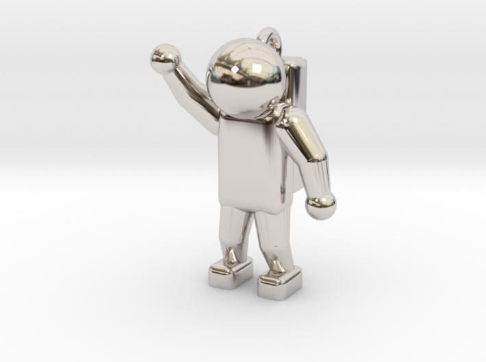 Astronaut Keyring 3d printed
