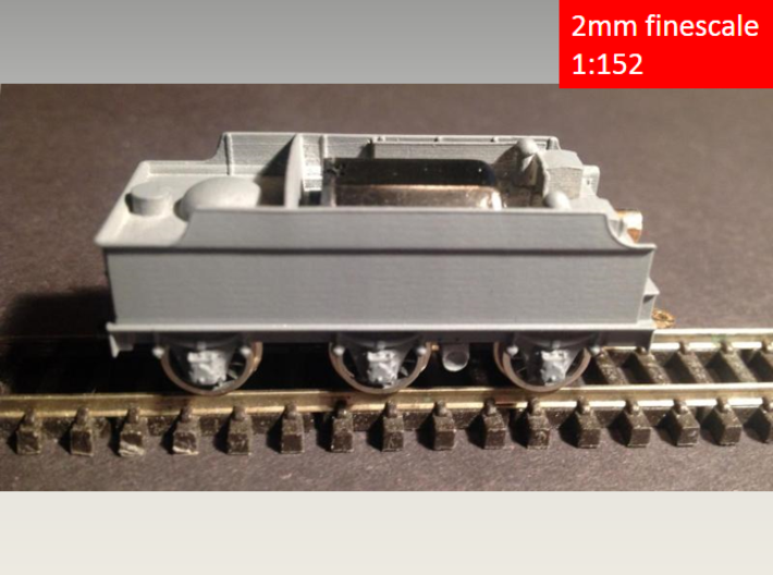 GWR Churchward 3500 tender, motor cutout, 2mm FS  3d printed 3D Print, sanded and primed