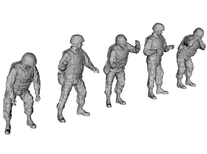 1-35 US Arty Crew Cold Weather Set1 3d printed