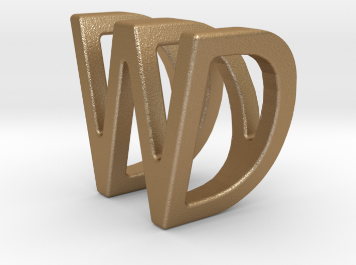 Two way letter pendant - DW WD 3d printed