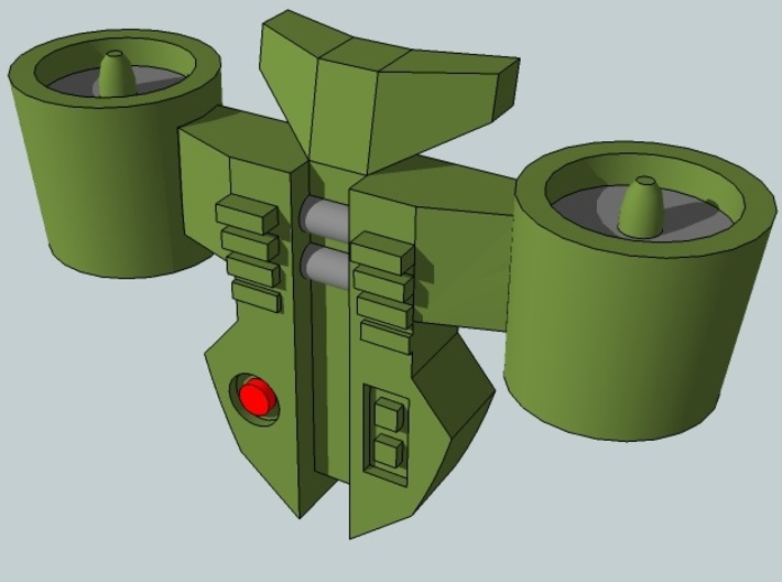 15mm Jetpacks, Turbofan Style 3d printed