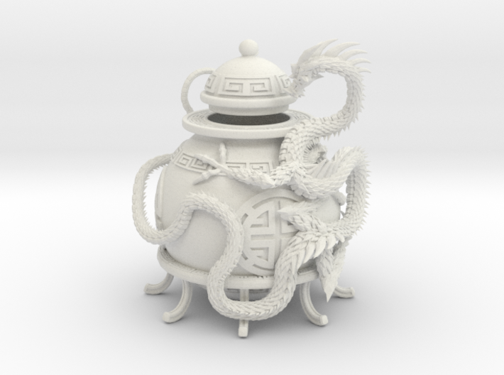 Prosperity Dragon Votive Shade 3d printed