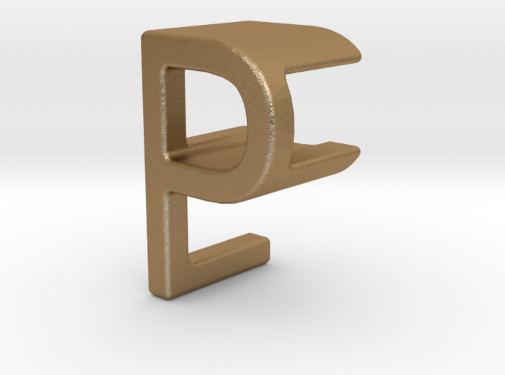 Two way letter pendant - EP PE 3d printed