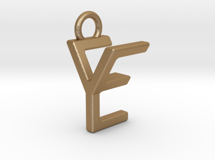Two way letter pendant - EY YE 3d printed