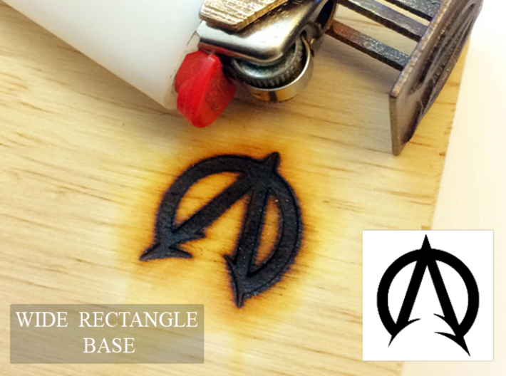 "Bic Lighter Branding Iron - 1 1/4"" X 3/4"" 3d printed"