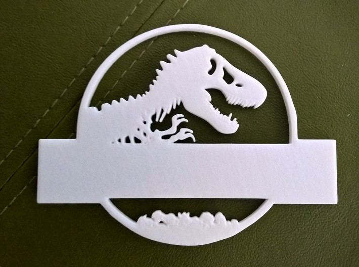 Jurassic World Nametag Top-Plate 3d printed Top Plate Close-Up