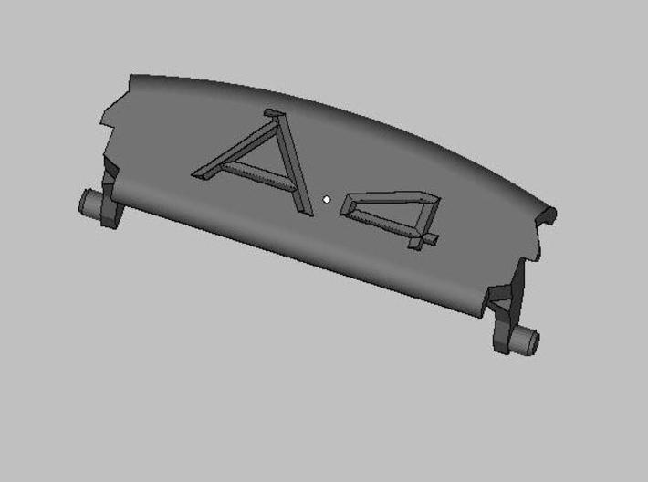 Audi A4 B6 armrest lid with spring A4 sign 3d printed