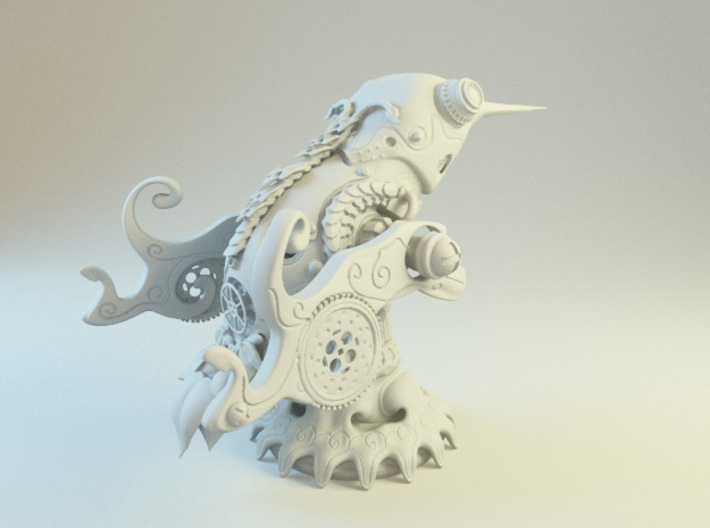 Steampunk Hummingbird 3d printed