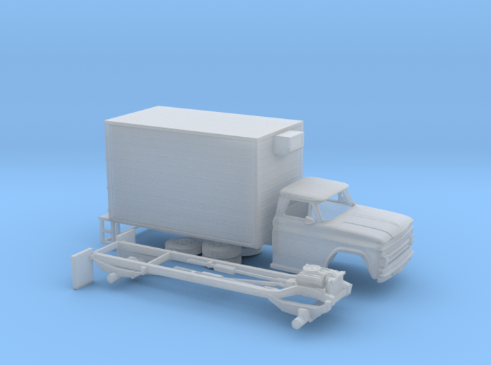 1/160 1966 Chevrolet C 50 Delivery Box 3d printed