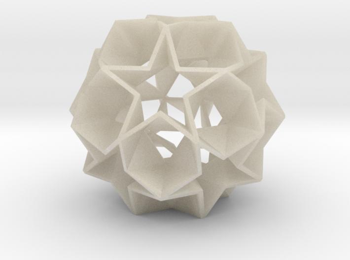 12 Star Ball [Acrylic & Steel] - 5.6 cm 3d printed