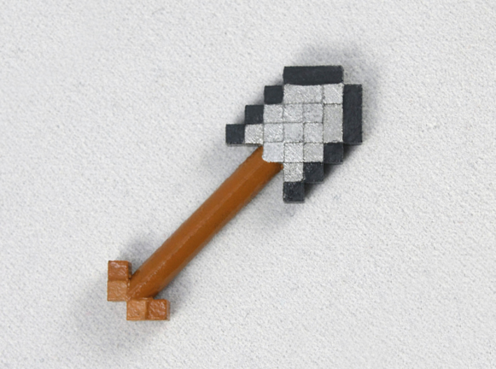 Mine Shovel 3d printed Painted Frosted Ultra Detail