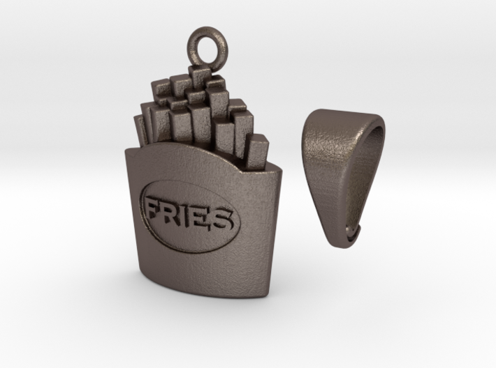 Fried Fries Pendant 3d printed