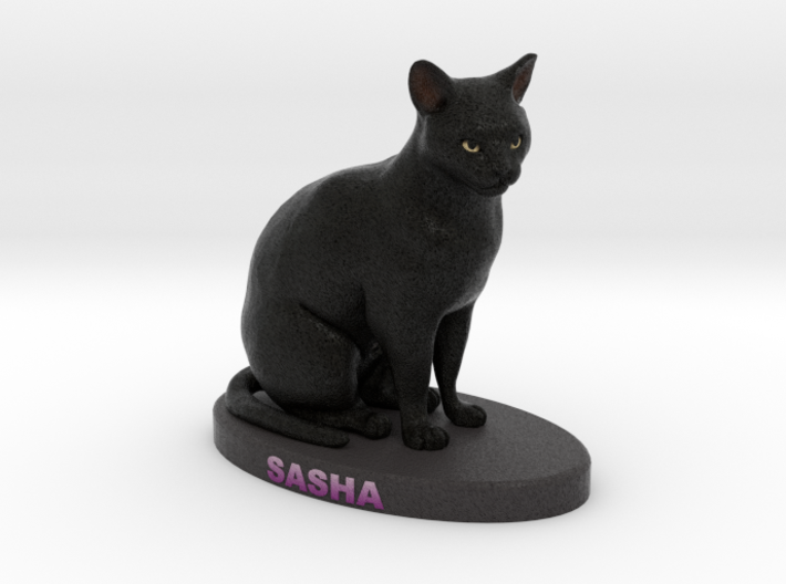 Custom Cat Figurine - Sasha 3d printed