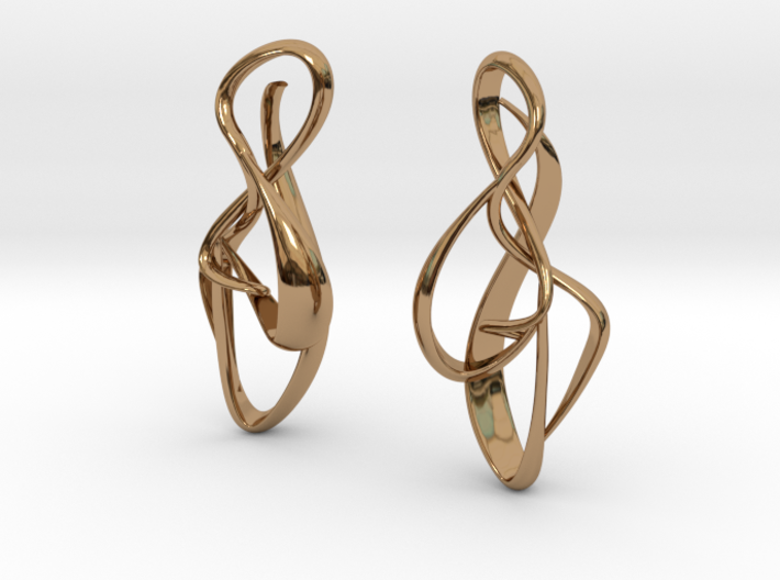 gold earrings : { i } 002 SMALL 3d printed
